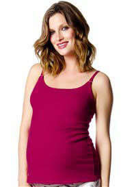 Queen Bee Harmony Cerise Red Maternity/Nursing Camisole by HOTmilk