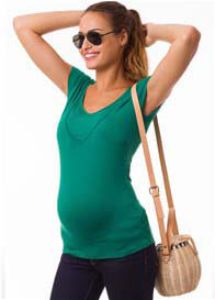 Queen Bee Milkizzy Lise Nursing Top in Emerald Green by Pomkin