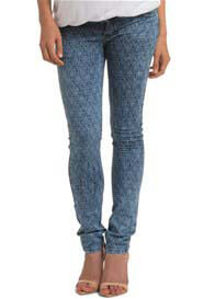 Queen Bee Ornamental Vintage Print Skinny Maternity Jeans by Esprit