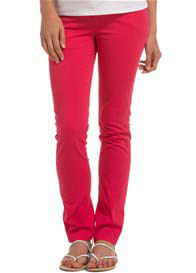 Queen Bee Raspberry Red Slim Leg Maternity Jeans by Esprit