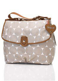 Queen Bee Fawn Polka Dot Satchel Baby Bag by Babymel