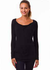Queen Bee Milkizzy Prisca Breastfeeding Top in Black by Pomkin