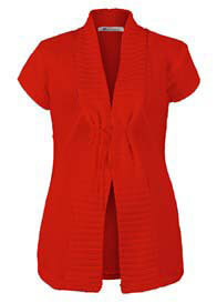 Queen Bee Summer Maternity Knit Cardigan in Red by Queen mum