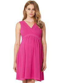 Queen Bee Lola Maternity Cocktail Dress in Pink by Noppies