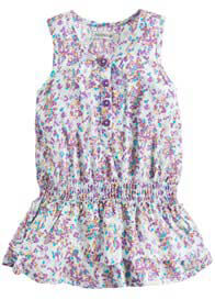 Queen Bee Carmen Baby Dress in Purple/Turquoise Print by Noppies Baby