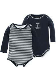 Queen Bee Hero Baby Romper (2 pack) in Blue stripe by Noppies Baby