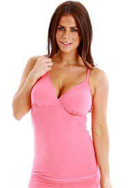 Queen Bee Nadia Maternity/Nursing Camisole in Pink by QueenBee