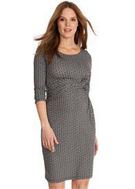 Queen Bee Black Chain Print Maternity Dress by Seraphine