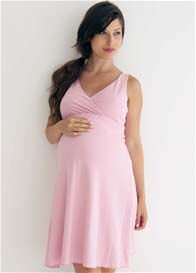 Queen Bee Reversible Maternity/Nursing Dress in Pink Stripes by Belabumbum