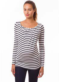 Queen Bee Milkizzy Prisca Breastfeeding Top in Blue Stripes by Pomkin