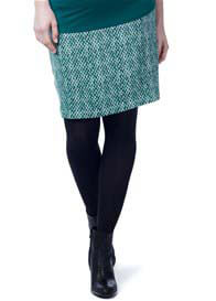 Queen Bee Ivy Green Print Maternity Skirt by Noppies