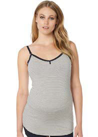 Queen Bee Elza Maternity Nursing Camisole in Dark Blue Stripe by Noppies