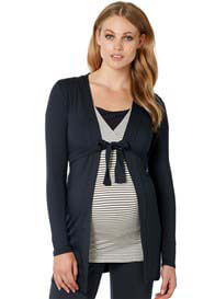 Queen Bee Carline Dark Blue Jersey Maternity Cardigan by Noppies