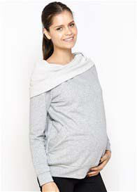 Queen Bee Emma Maternity Pullover Sweatshirt in Grey by Imanimo