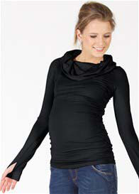 Queen Bee Liam Black Thumb Hole Maternity Nursing Top by Quack Nursingwear