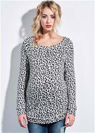Queen Bee Animal Print Maternity Sweater by Supermom