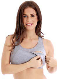 Queen Bee Maternity Nursing Sports Bra in Grey by La Leche League