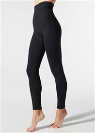 Queen Bee High Waist Postpartum Support Leggings in Black by Blanqi