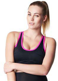 Queen Bee Robijn Maternity Active Sports Bra in Black/Pink by Noppies