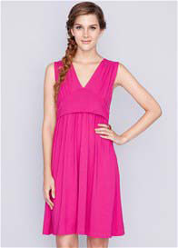 Queen Bee Tory Bamboo Nursing Dress in Magenta Pink by Dote Nursingwear