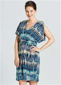Queen Bee Journo Breastfeeding Dress in Tribal Print by Milky Way
