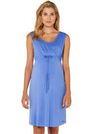Queen Bee Columbine Blue Sleeveless Maternity Nursing Dress by Esprit