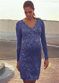 Queen mum - Beautiful Lace Evening Dress in Blue - ON SALE