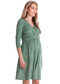 Queen Bee Green Geo Print Maternity Dress by Seraphine