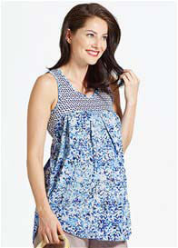 Queen Bee Mix Print Maternity Nursing Tank Top by Milky Way Nursingwear