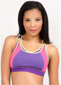 Queen Bee Maternity Nursing Sports Bra in Purple by La Leche League
