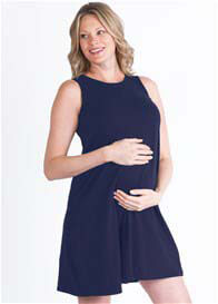 Queen Bee Playhouse Maternity Dress in Navy Blue by LA Made