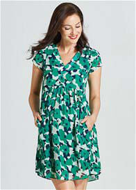 Queen Bee Emerald Poppy Maternity Nursing Dress by Milky Way