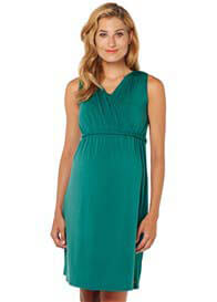 Queen Bee Green Sleeveless Maternity Nursing Dress by Esprit