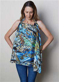 Queen Bee Breastfeeding Cover in Bleu by Minski Co