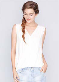 Queen Bee Celeste Bamboo Nursing Top in Cream by Dote Nursingwear