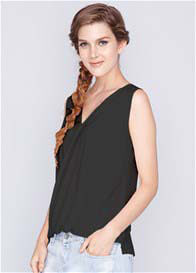 Queen Bee Celeste Bamboo Nursing Top in Black by Dote Nursingwear