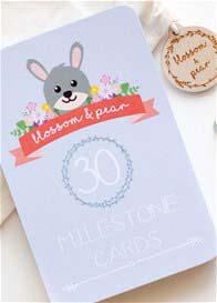 Queen Bee Unisex Baby Milestone Cards in Woodland Design by Blossom & Pear