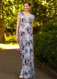 Queen Bee Alana Maternity Maxi Dress in Vintage Bloom by Tiffany Rose