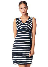 Queen Bee Lara Maternity Nursing Dress in Dark Blue Stripe by Noppies