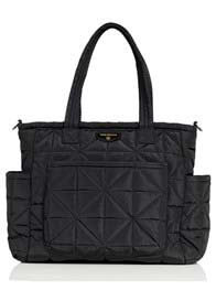 Queen Bee Carry Love Quilted Baby Tote Bag in Black by TWELVE little