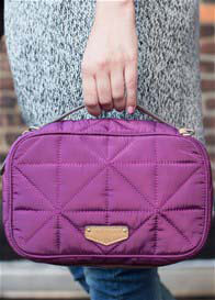 Queen Bee Quilted Crossbody/Clutch Diaper Bag in Plum by TWELVE little