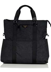 Queen Bee Unisex 3-in-1 Foldover Diaper Tote Bag in Black by TWELVE little