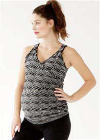 Queen Bee Cross Front Maternity Nursing Active Top by Belabumbum