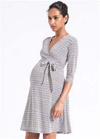 Queen Bee Perfect Wrap Maternity Dress in Nomadic Reflection by Leota