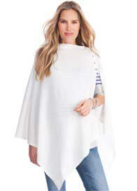 Queen Bee Sia Cotton Nursing Shawl in Off White by Seraphine