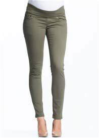 Queen Bee Khaki Maternity Skinny Jeans by Soon Maternity
