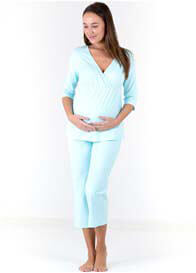 Queen Bee Pale Blue Maternity Nursing Pyjama Set by Dote Nursingwear
