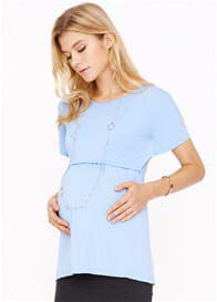 Queen Bee Brooke Maternity Nursing Top in Light blue by Dote Nursingwear