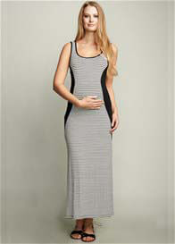 Queen Bee Side Insert Maternity Maxi Dress by Maternal America