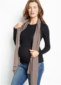 Queen Bee Soft Knit Nursing Scarf Cover in Mocha by Maternal America